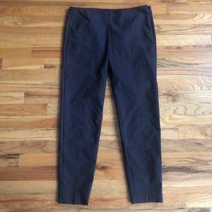 ST. JOHN Modern Brown Side Zip Slim Ankle Pants 8